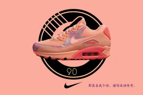Women Nike Air Max 90 Orange Pink Red Leather Running Shoes,Best quality nike air max 90 orange pink red sneaker online sale | nike sneaker store | Scoop.it