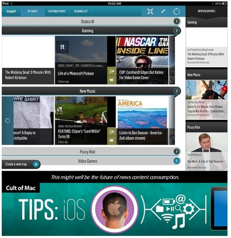 Watch Out, Flipboard, Trapit for iPad Raises The Stakes For Newsreader Apps [iOS Tips] | Cult of Mac | WEBOLUTION! | Scoop.it