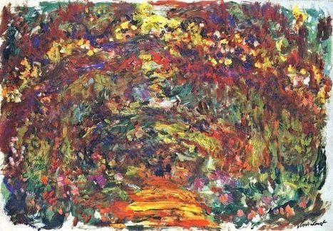 Camino Bajo El Rose Trellises Giverny 1922 1 - Pintura al óleo | Landscapes oil paintings | Scoop.it