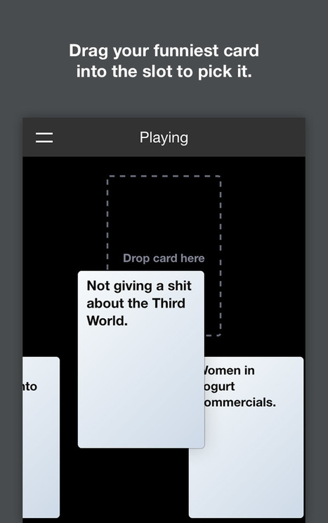 Cards Against Originality, an online app for Cards Against Humanity. | A Random Collection of sites | Scoop.it