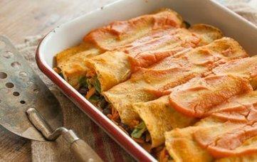 Black Bean and Sweet Potato Enchiladas | My Vegan recipes | Scoop.it