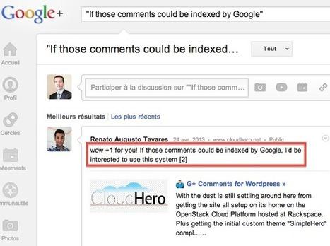 Extension Wordpress : module de commentaires Google+ - Web Rank Info (Blog)   Bloguer en WordPress   Scoop.it