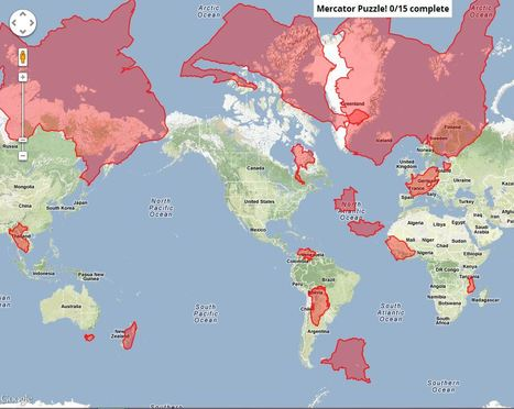 Mercator Puzzle | Geography Education | Scoop.it