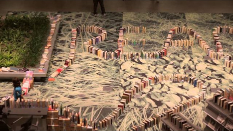 Watch the world's longest domino chain made of books | Google Lit Trips: Reading About Reading | Scoop.it