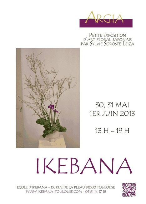 Exposition Ikebana à Toulouse les 30, 31 Mai et 1er Juin | Le Japon et la culture japonaise à Toulouse. | Scoop.it