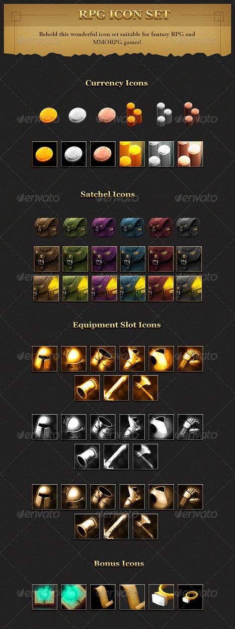 RPG User interface Icon Set (Miscellaneous) | GFX Database | GFX Download | Scoop.it