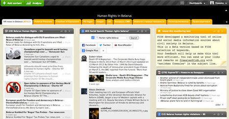La FIDH met en ligne un univers Netvibes dédié aux droits de l'homme au Bélarus | RSS Circus : veille stratégique, intelligence économique, curation, publication, Web 2.0 | Scoop.it