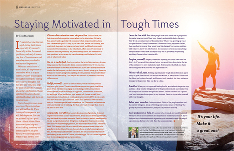 Staying Motivated in Tough Times | Wellness Lifestyle - courtesy of Tammy-Lynn McNabb, Host of www.healthradio.fm | Health & Wellness with Tammy-Lynn | Scoop.it