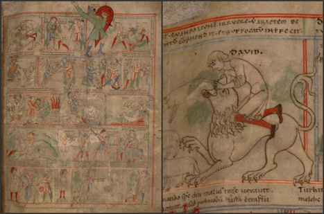 Damien Kempf • A medieval comic book This a page from the Bible...   School Libraries and more   Scoop.it