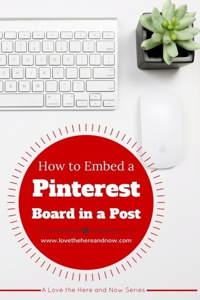 How to embed a Pinterest Board into your blog post | Marketing with Social Media | Scoop.it