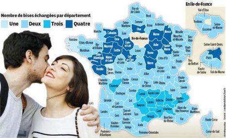France : une, deux, trois ou quatre bises ? Une carte pour s'y retrouver | Mes coups de cœur FLE | Scoop.it