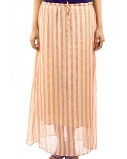 Women's Long Skirt - Cream & Orange | EdayGarments- Buy Dresses, skirts, tops, Tunics | Scoop.it