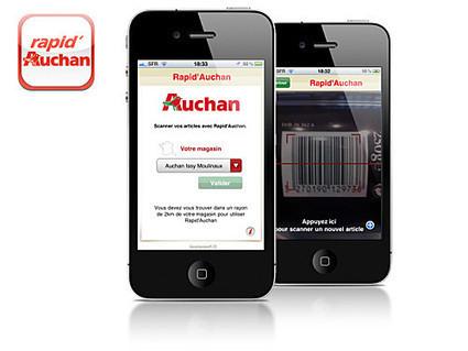 Appli Scan & Go : la distribution française n'est pas en retard avec Rapid'Auchan, Carrefour et Keyneosoft. | E-commerce, M-commerce : digital revolution | Scoop.it