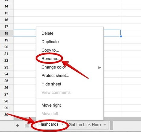 A Step By Step Guide On How to Create Flashcards Using Google Spreadsheets ~ Educational Technology and Mobile Learning | Teacher Librarians Rock | Scoop.it