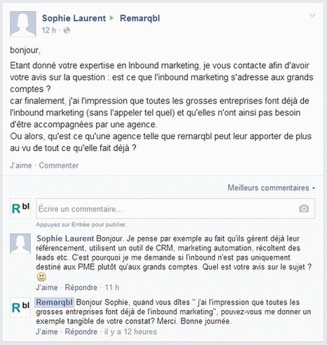 Est-ce que votre entreprise pratique l'inbound marketing ? | marketing automation | Scoop.it