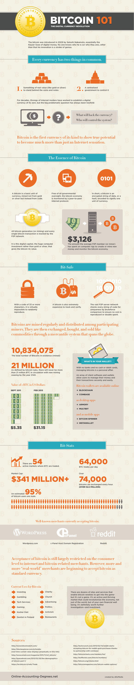 Bitcoin 101: The Digital Currency Revolution [INFOGRAPHIC] | CrowdSourcing InfoGraphics | Scoop.it