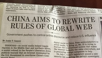 Internet Code of Conduct' Dictated By China. America Has Been Sold Down The River. | email | Scoop.it