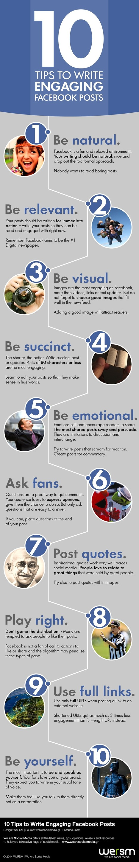 10 tips to write engaging facebook posts [Infographic] | Time to Learn | Scoop.it