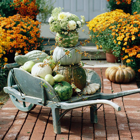 Pretty Front Entry Decorating Ideas for Fall | Grown Green Gardens | Scoop.it