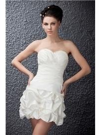 $ 138.99 Pretty Short/Mini Sweetheart Polina's Wedding Dress With Pleats   Fashion women   Scoop.it