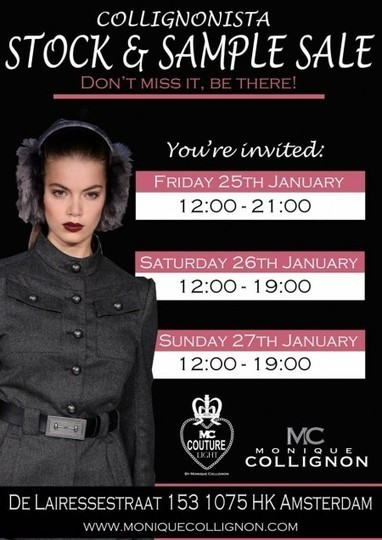 EVENT ALERT: Sample Sale At Monique Collignon : by Styling Amsterdam | By Styling Amsterdam Fashion Designers Models Trendsetters Daily Notes Agenda Guide Style Trends Magazine Calendar Planner News Fashion days and deals Celebrity styles | Scoop.it