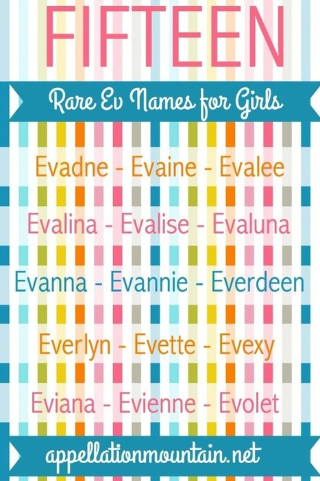 15 Rare Ev Names for Girls: Take Eva and Mix! - Appellation Mountain | Baby Name News! | Scoop.it