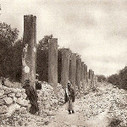Columns from the ancient city of Samaria in Palestine are seen in the photograph from 1925. <br/> - via @Ramdog1980 | Ancient Cities | Scoop.it