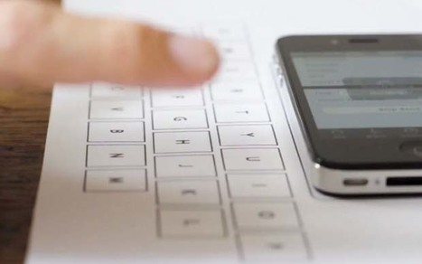Apple iPhone turns table top into full-sized invisible keyboard | #iPadChat | Scoop.it