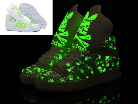Adidas Glow In The Dark Big Tongue Skull White Green For Sale Online   Cheap Glow In The Dark Adidas Online   Scoop.it