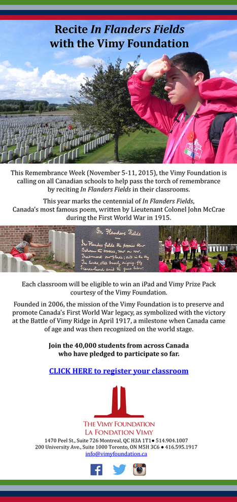 Vimy Foundation | HCS Learning Commons Newsletter | Scoop.it