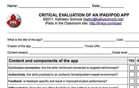 Apps in Education: Are We Really Evaluating the Use of iPads in Our Classroom | Communication and Autism | Scoop.it