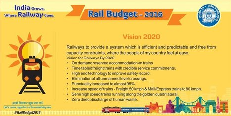 Indian Railway Budget 2016-17 – A Colorful Overview | IRCTC Info | Scoop.it