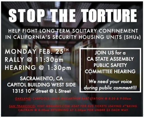 Amnesty Intl statement for Feb. 25 CA SHU hearing ; Bay Area activists mobilize for rally : Indybay | Prison Reform & Prisoners' Rights News Highlights Daily | Scoop.it