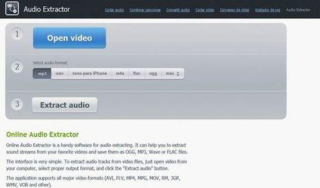 Audio Extractor, utilidad web gratuita para extraer el audio de los vídeos | Herramientas que potencian | Scoop.it
