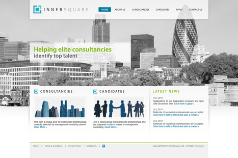 InnerSquare's sharp, clean and professional-looking web site Website design #113 by Only Quality | website inspirations | Scoop.it