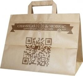 Un sac traiteur réalisé pour le Chasselas de Moissac   Sac papier publicitaire   Scoop.it