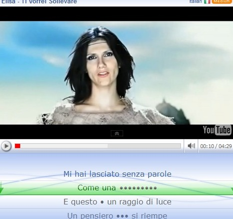 Learn Languages Online For Free Through Music Videos and Song Lyrics | Learning Italian online - Free resources | Scoop.it