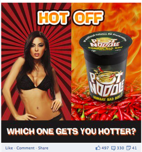 """Degrading"" Pot Noodle Facebook Ad Banned - BuzzFeed 