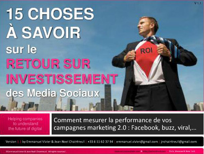 Le ROI des média sociaux en 15 points « SWiTCH | Médias sociaux & web marketing | Scoop.it