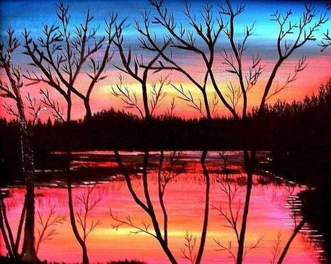 Evening Pond by Larry Matthews   Nova Scotia Art   Scoop.it