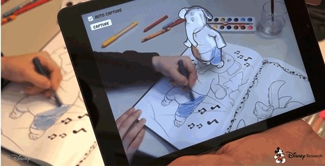 "Disney Has Invented 3D Coloring Books | Being a kid today is fun in schools | Creativity | Augmented Reality | La ""Réalité Augmentée"" (Augmented Reality [AR]) 