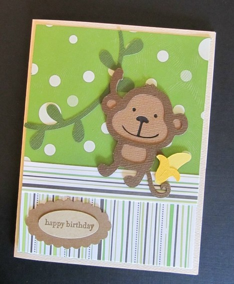 Monkey Birthday Card Using Create A Critter Cricut Cartridge - News - Bubblews | P.S. I Love You Paper Arts and Crafts | Scoop.it