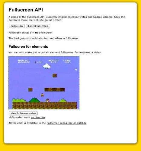 Using the Fullscreen API in web browsers on Firefox, Chrome, Safari | Dev | Scoop.it