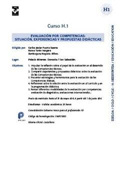 Evaluación por competencias: situación, experiencias y propuestas didácticas | Gogoetarako eta formaziorako materialak (Hizkuntzak) Materiales para la reflexión y la formación (Lenguas) | Scoop.it