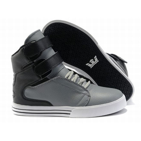 Men Skate Shoes Supra Tk Society Black and Grey Color   share and want   Scoop.it