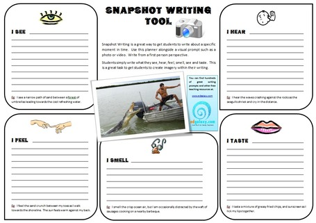 The Snapshot Writing Tool: Help Students Create Visual Imagery Within Their Writing | Scriveners' Trappings | Scoop.it