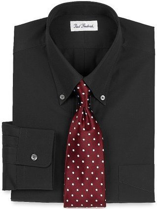 ***   Paul Fredrick Mens 100s 2-Ply Broadcloth Button Down Collar, Button Cuff Black 16.0/33 Paul Fredrick Black | Cheap Dress Shirts for Men | Scoop.it