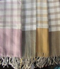 Traditional Striped Cotton Scarfs, handmade ethically by local weavers   Silk Scarfs, Ethically handmade   Scoop.it