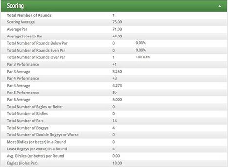 Una aplicación para medir todas las estadísticas - Crónica Golf   golf   Scoop.it
