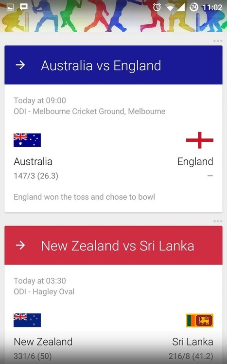 Cricket World Cup: How to Get live scores and fixtures right on the home screen!!! | Android And Freak | Android And Freak | Scoop.it